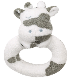 Angel Dear™ Ring Rattle - Cow
