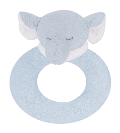 Angel Dear™ Ring Rattle - Elephant - Blue