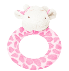 Angel Dear™ Ring Rattle - Giraffe - Pink