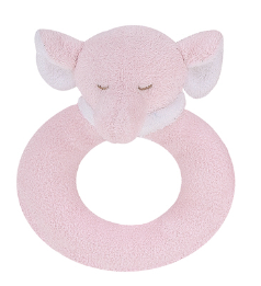 Angel Dear™ Ring Rattle - Elephant - Pink