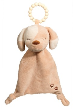 DOUGLAS® Tan Puppy Lil' Sshlumpie Teether Blankie