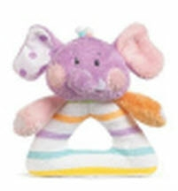 GANZ® Candy Stripe Elephant Rattle