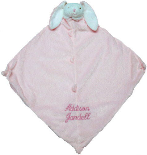 Angel Dear Pink Bunny with Medium Script Lettering