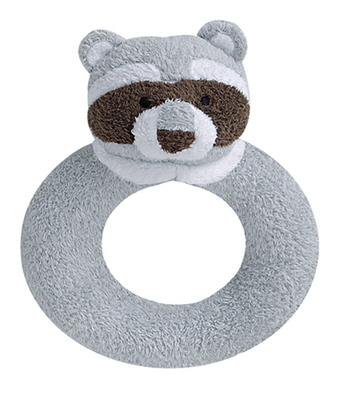 Angel Dear soft Ring Rattle - Raccoon