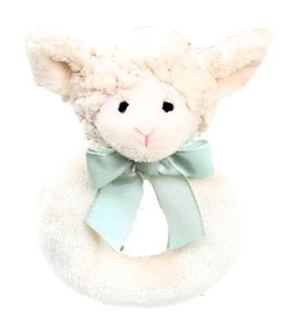 Bearington Baby Lamby Ring Rattle