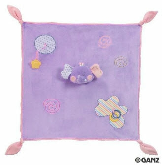 GANZ - Candy Stripe Blanket - Purple Elephant