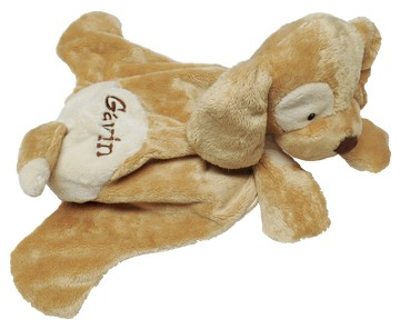 GUND Huggybuddy Tan Spunky with Block Lettering on Fur