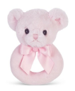 BEARINGTON BABY® Pink Huggy Bear Ring Rattle (SKU: BBRR196370)