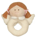 GANZ® Heaven Sent Brunette Angel Rattle (SKU: BGR3552BR)