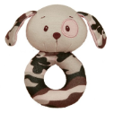 GANZ® Rattle - Pink Camo Dog (SKU: BG3564)