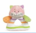 GANZ® Candy Stripe Cat Rattle (SKU: BGR1697C)