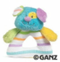 GANZ® Candy Stripe Puppy Rattle (SKU: BGR1697P)