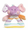 GANZ® Candy Stripe Elephant Rattle (SKU: BGR1697E)